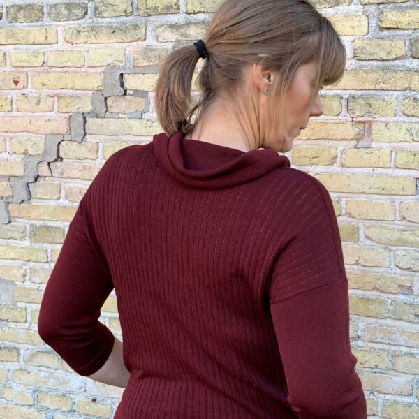 Strikbluse, Casual no. 2 - bordeaux