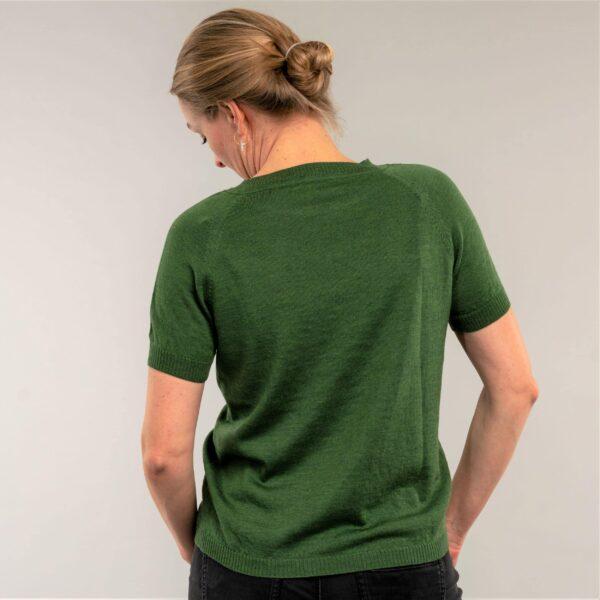 Kortærmet strikbluse, Classic no. 1 grøn