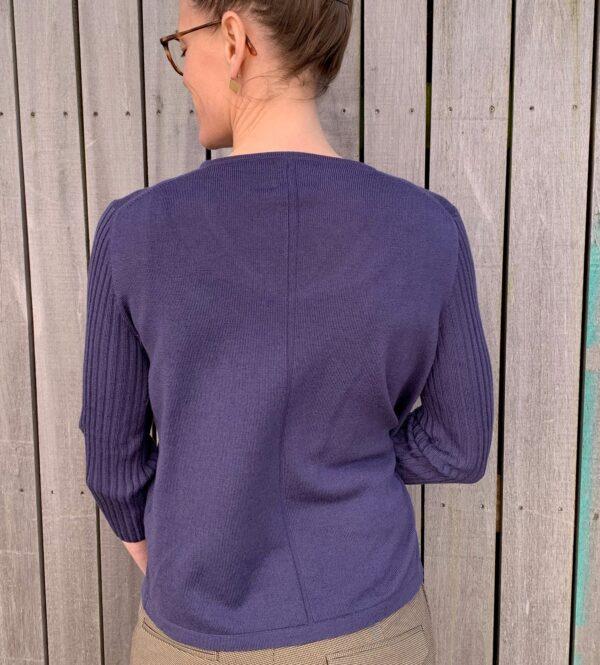 V-hals strik, Classic no. 3 violet