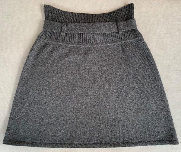 Strik nederdel, Classic no. 4 grå