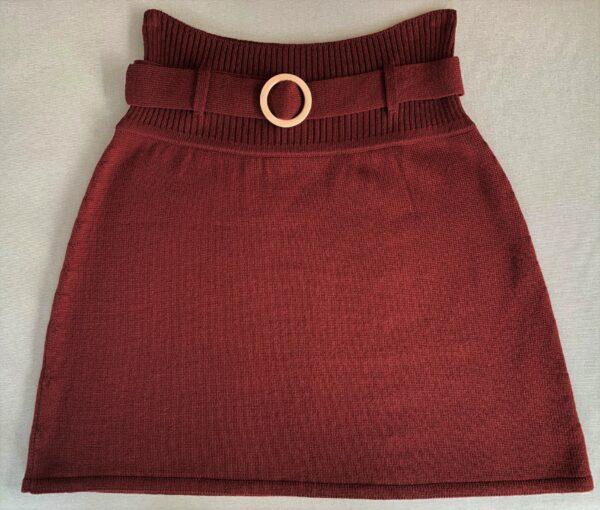 Strik nederdel, Classic no. 4 bordeaux