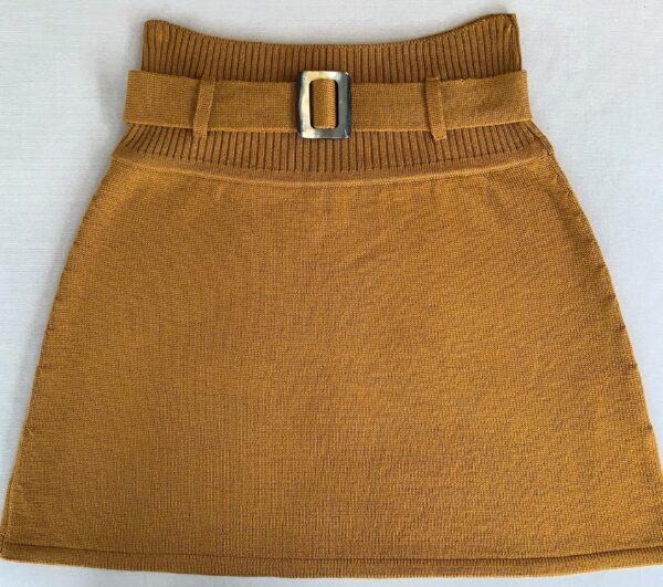 Strik nederdel, Classic no. 4 okker
